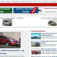 Új autós portál - 3000 teszt és 1000 használt autó