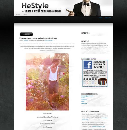 """Újabb """"YourLook"""" fotóm a HeStyle oldalon!"""