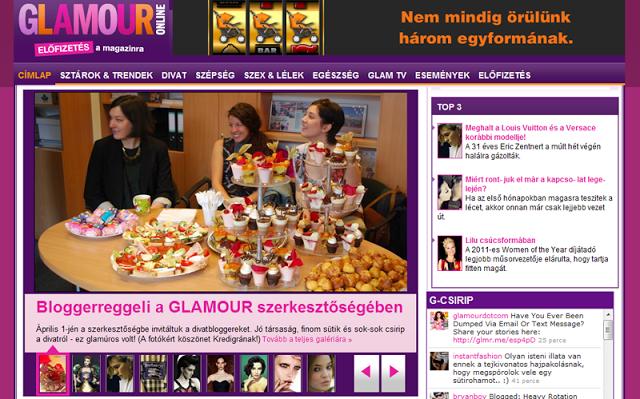Bloggerreggeli a GLAMOUR szerkesztőségben