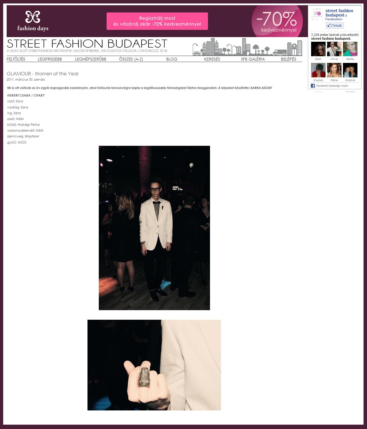 Glamour gálán járt a SFB