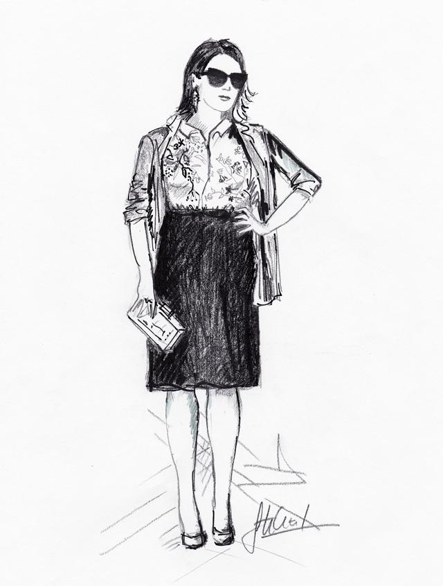 Street fashion inspirálta Divatillusztárció I.
