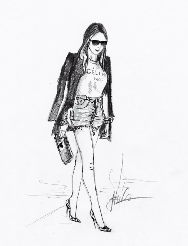 Street fashion inspirálta Divatillusztárció II.