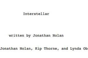 Writers' Block: Interstellar by Jonathan Nolan