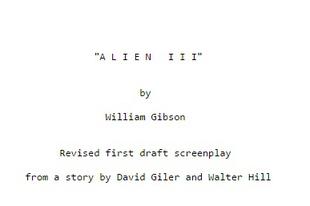Writers' Block: Alien III by William Gibson