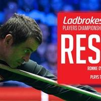 Ronnie O'Sullivan elődöntős, Higgins akkorát zakózott, mint a ház