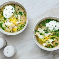 Görög, csirkés-citromos leves: pikáns, savanykás és frissítő
