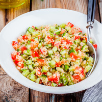 Zöldséges-korianderes quinoasaláta: fitt, nyári ebéd
