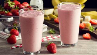 Krémes epres-banános smoothie: chia maggal és sok vitaminnal