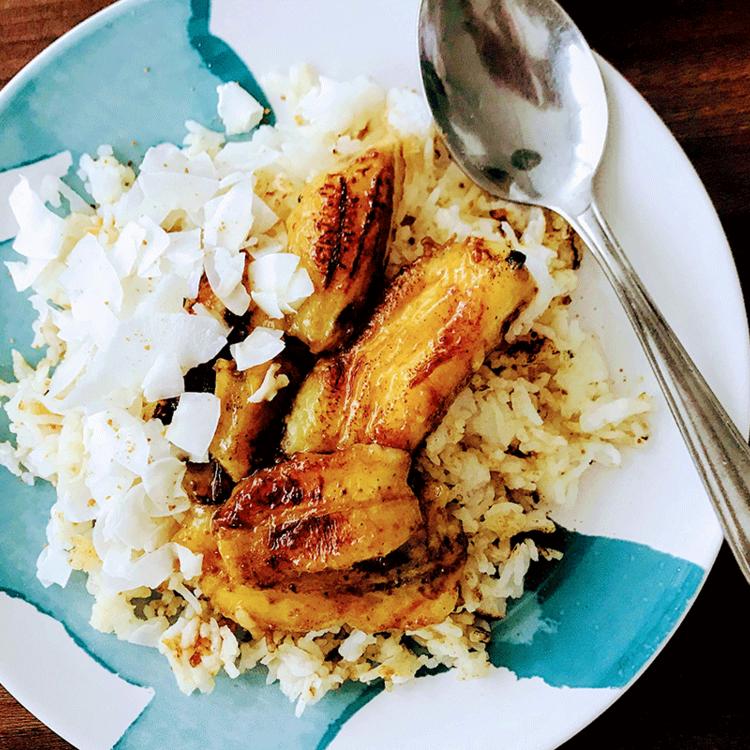Vaníliával átforgatott banán édes, pirított rizzsel - Maradékfelhasználás édesszájúaknak