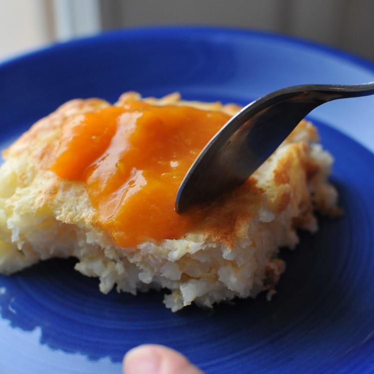 Kívül sült, belül habos, vaníliától és citromtól illatos rizskoch