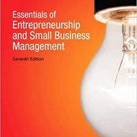 Essentials Of Entrepreneurship And Small Business Management (7th Edition) Norman M. Scarborough