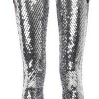 Csillogó ezüstpikkelyes leggings, neked tetszik?