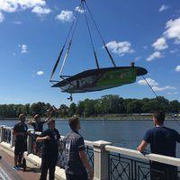 Alternatív vízretétel!  #crane #boat #lifting #bme #bmesolarboatteam #kaliningrad