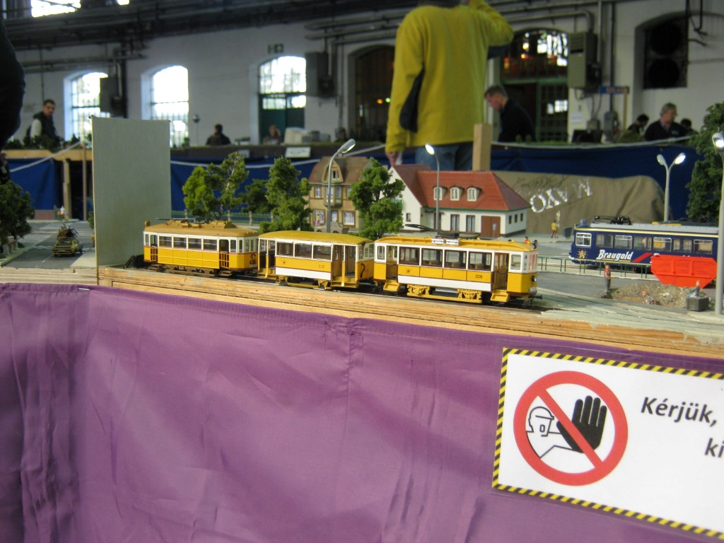Néhány jellegzetes, budapesti villamos<br />(Széchenyi Vasútmodellező Klub)