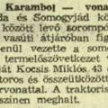 Újsághírek: Vonattal ütközött a TSZ vontatója (1969.05.14.)