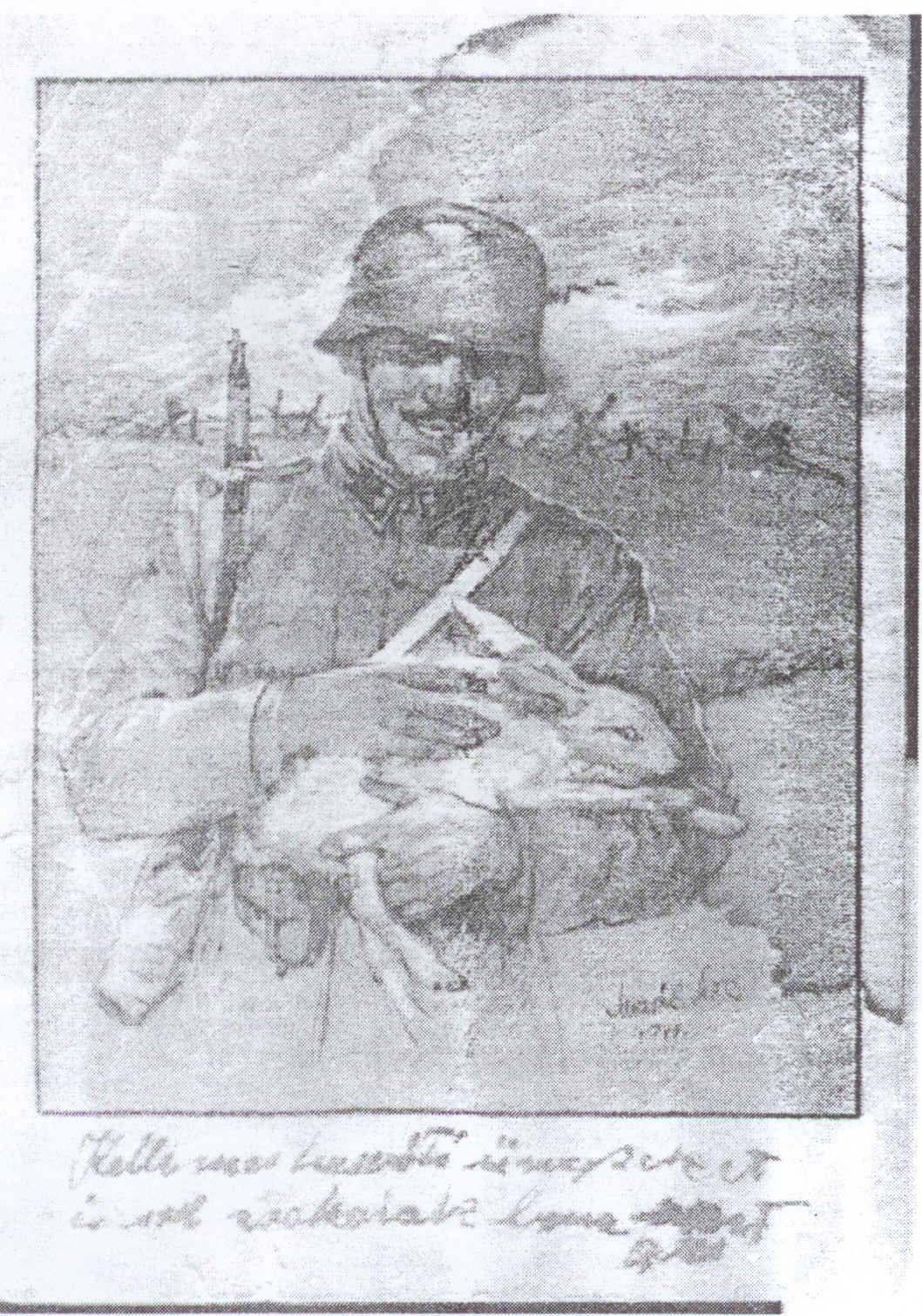 Csontos Zoltán húsvéti üdvözlete családjának a frontról, 1944 (2).jpg