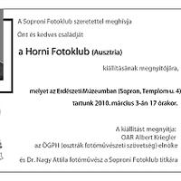 A Horni Fotóklub kiállítása Sopronban