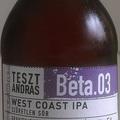 Tesztandrás Beta.03 West Coast IPA