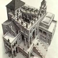 Egy kisfiú Escher lépcsőjén