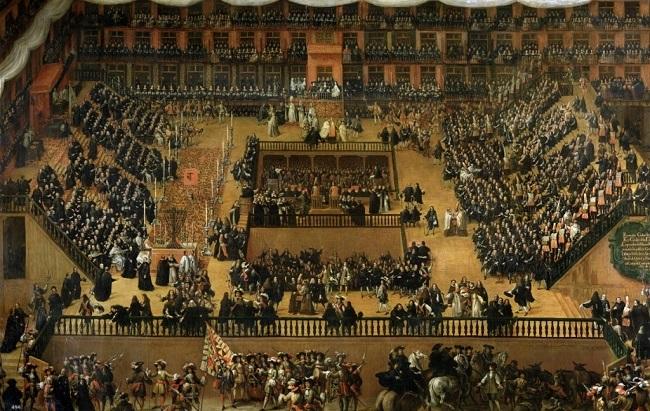 Autodafé II.Károly spanyol király jelenlétében (1680)