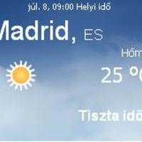Spanyolország aktuális időjárás előrejelzés, 2010. július 8.