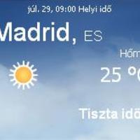 Spanyolország napi aktuális időjárás előrejelzés, 2010. július 29.