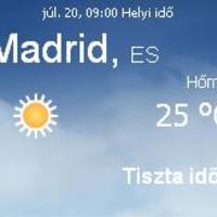 Spanyolország aktuális időjárás előrejelzés, 2010. július 20.