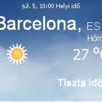 Spanyolország aktuális napi időjárás előrejelzés 2010.07.05