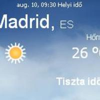 Spanyolország napi aktuális időjárás előrejelzés, 2010. augusztus 10.