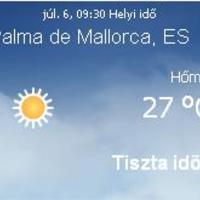 Spanyolország aktuális időjárás előrejelzés, 2010. július 6.
