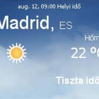 Spanyolország napi aktuális időjárás előrejelzés, 2010. augusztus 12.