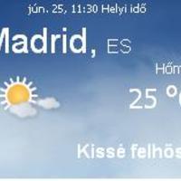 Spanyolország napi időjárás előrejelzése 2010 június. 25