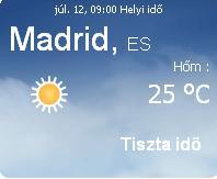 Spanyolország aktuális időjárás előrejelzés, 2010. július 12.