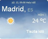 Mallorca aktuális napi időjárás előrejelzése
