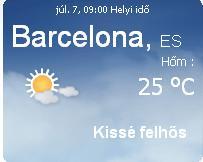 Spanyolország aktuális időjárás előrejelzése
