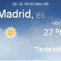 Spanyolország aktuális időjárás előrejelzés, 2010. július 19.