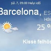 Spanyolország napi időjárás előrejelzés 2010 július 7