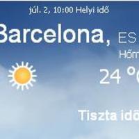 Spanyolország aktuális időjárás előrejelzés, 2010. július 2.