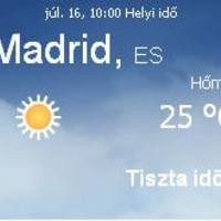 Spanyolország aktuális időjárás előrejelzés, 2010. július 16.