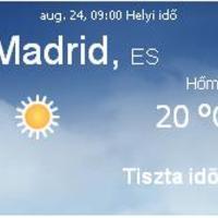 Spanyolország napi aktuális időjárás előrejelzés, 2010. augusztus 24.