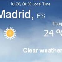 Spanyolország napi aktuális időjárás előrejelzés, 2010. július 28.