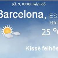 Spanyolország aktuális időjárás előrejelzés, 2010. július 9.