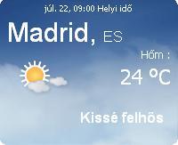 spanyolország napi időjárás előrejelzés