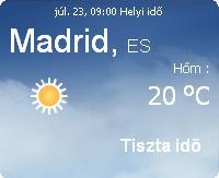 spanyolország 2010 napi időjárás madrid előrejelzés