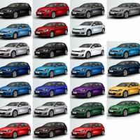 A VW Golf 7 teljes színskálája - neked melyik jön be a legjobban?