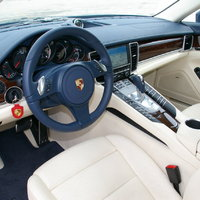Porsche Panamera belső (yachting blue/crema)