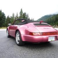 Porsche 911 (964) Cabriolet Turbolook (Himbeerrot metallic)