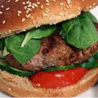 Hamburger spenóttal