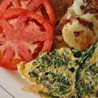 Spenótos omlett