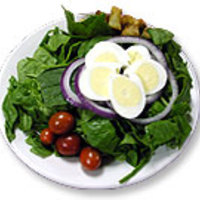 Spenótsaláta tojással